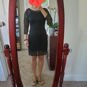 Like new Express 3/4 Sleeve geometric lace dress